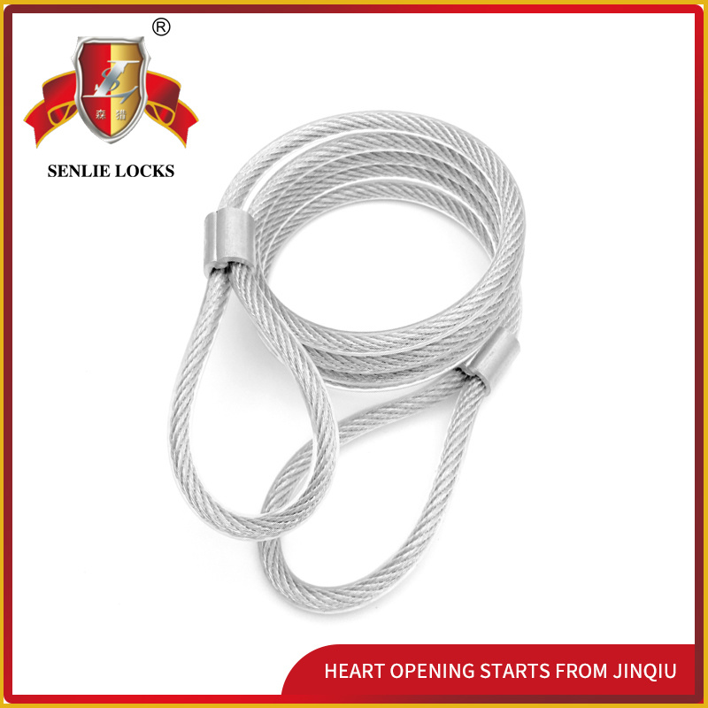 Jq8401-Q Newest Durable Bicycle Lock Mortorcycle Steel Cable with PVC
