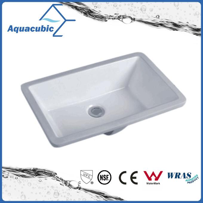 Bathroom Undermount Square Lavatory Ceramic Basin (AB016)