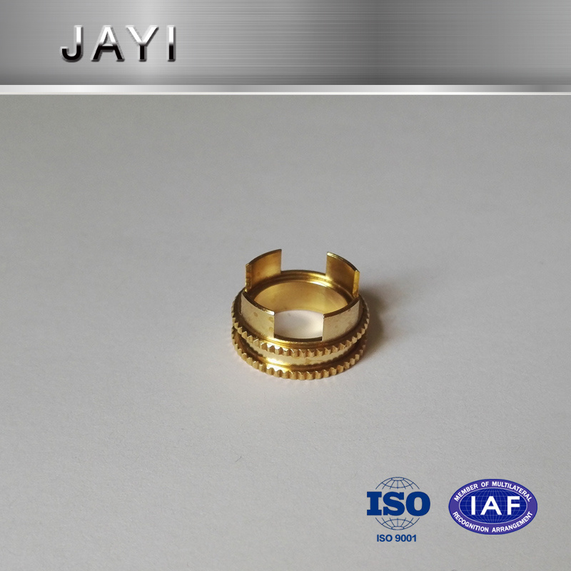 Brass Parts with Knurling, Auto Parts by CNC Machining