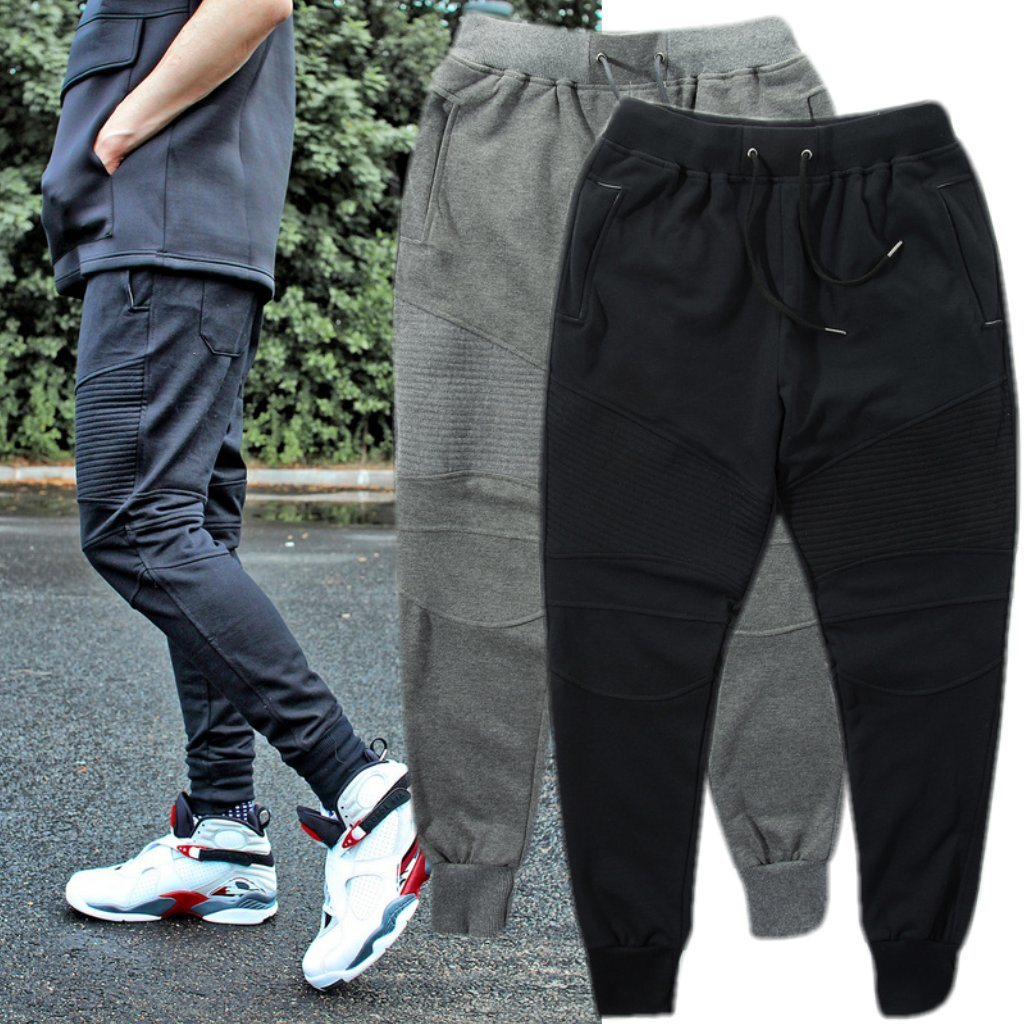 This collection of jogger pants will instantly turn your style up a notch with their skinny fit, elasticized cuffs, and comfortable drawstring waist. Highlight your favorite sneakers, such as a pair of Nike Janoski kicks, when you slip on a pair of our joggers.