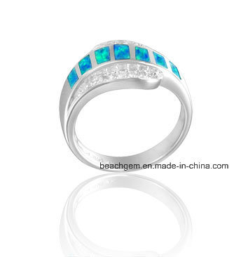 Fashion Jewelry Rings with Created Opal