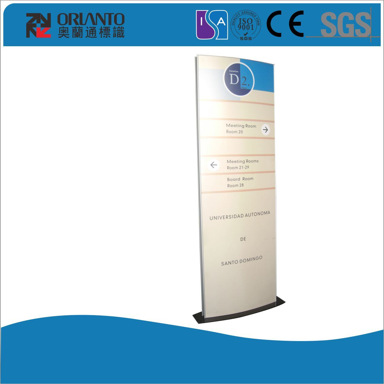 Vertical Different Size Wall Mounted Sign