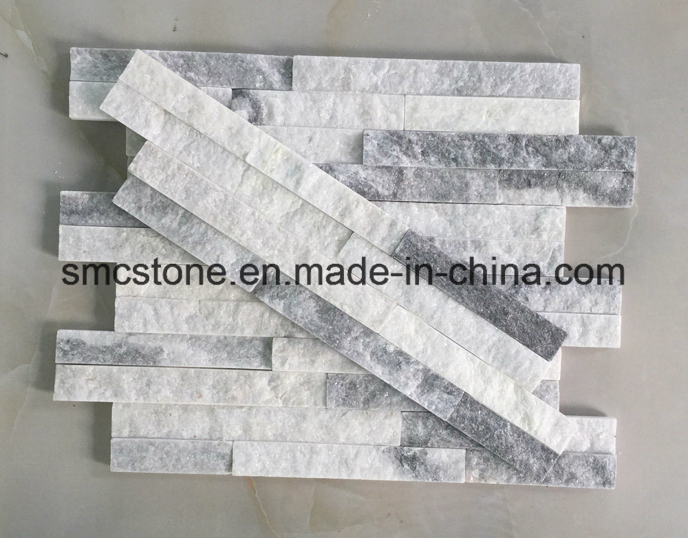 10*40cm Slim Cloud Grey Stacked Culture Stone Hhsc10X40-006