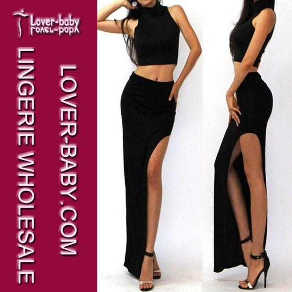 Woman Lady 7 Colors Fashion Dress Long Skirt (L396-1)