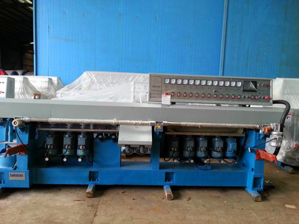 Glass Multi Stage Edging Machine 12 Motors 0-45 Degrees Manual (BDM12.325)