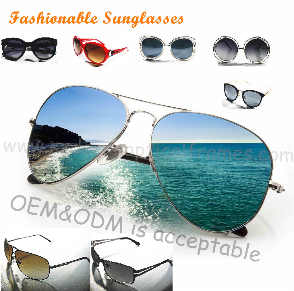 Wholesale Custom Logo Fashion Metal/Acetate Sunglasses