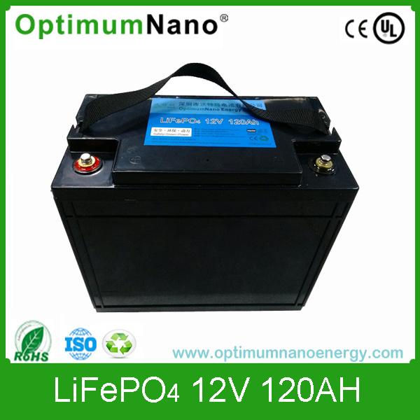 Deep Cycle Energy Storage 12V 120ah UPS Battery LiFePO4