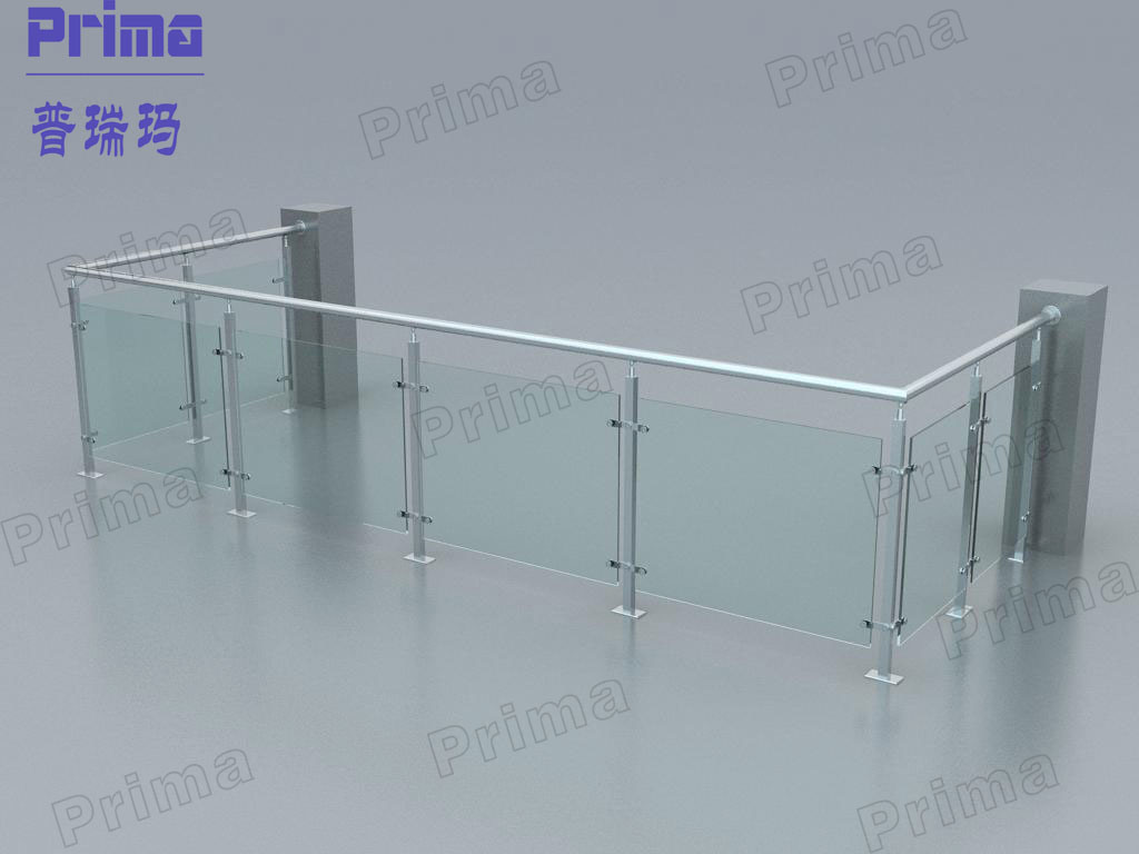 Stainless Steel Frame Toughened Glass