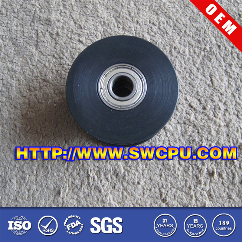 Custom Made Rubber Caster Wheel with Steel Center