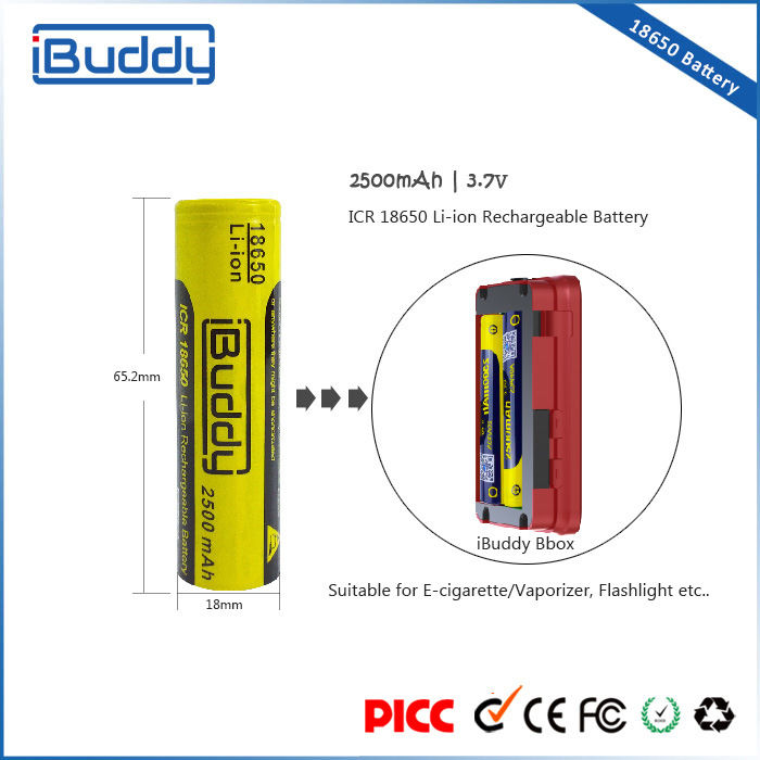 Wholesale Battery Manufacturer Rechargeable 18650 Li-ion Battery for Box Mod