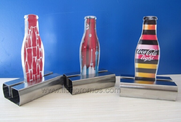 Promotion Gifts Cola Beer Bottle Shape Stainless Steel Menu Holder