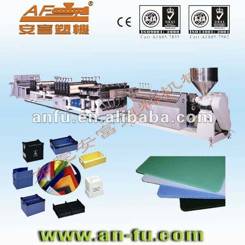 PE PP PC Hollow Profile Sheet Board Machine
