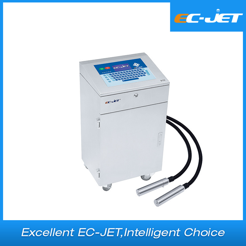 Twin Printheads Color Print Machine Industrial Inkjet Printer for Re-Winding Machine