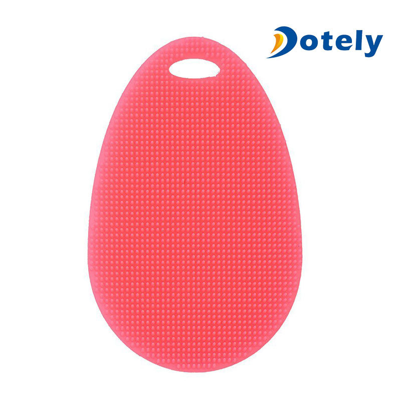 Silicone Dish Scrubber Cleaning Brushes Kitchen Accessories