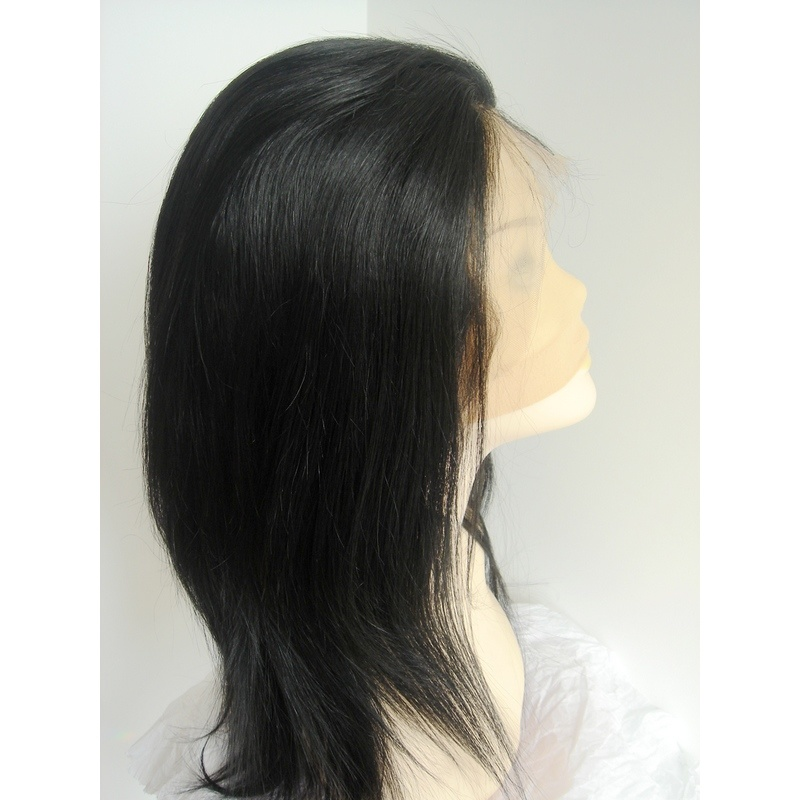 "It Is Made From 100% Remy Human Hair lace wigs. Hair Length: 14"" Hair Color"