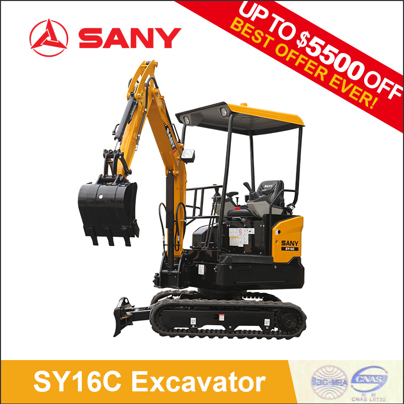 Sany Sy16c 1.6 Tons Energy Saving Mini Bagger of Hydraulic Excavator for Sale