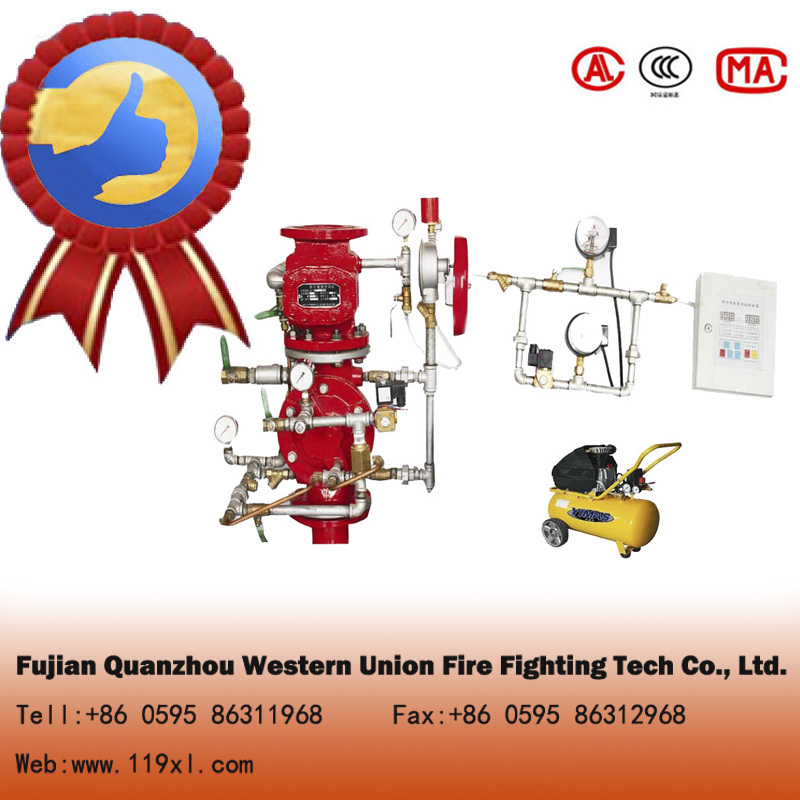 Wet fire alarm check valve