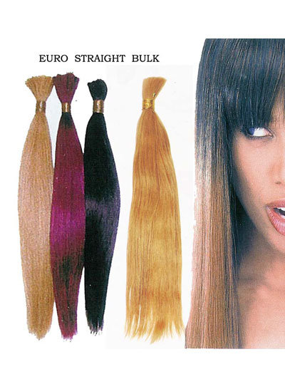 Euro Straight Bulk Human Hair Extension