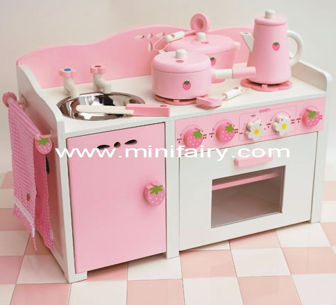 China wooden toys big play kitchen set j1841 china for Large kitchen set