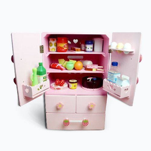 China 2015 New Wooden Pretend Toy Fridge Toy For Kids