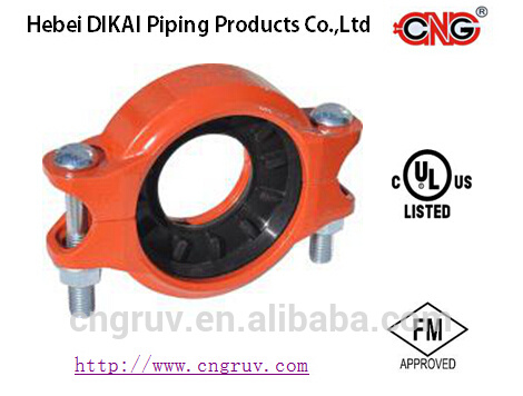 FM /UL Approved Ductile Cast Iron Grooved Pipe Fittings and Reducing Flexible Coupling
