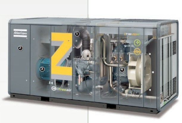 Atlas Copco Oil Free Screw Air Compressor (ZT110FF ZT132FF ZT145FF)