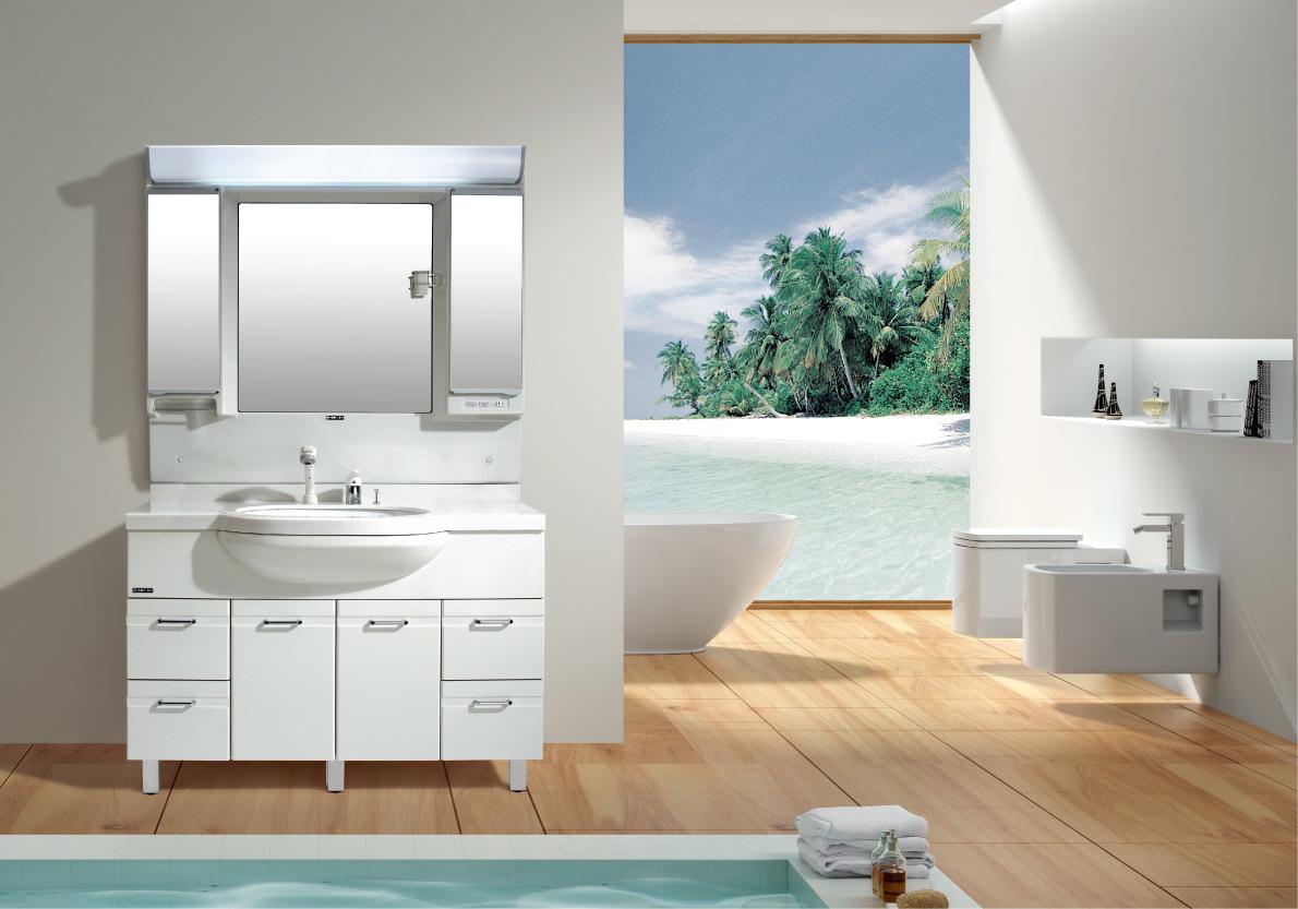 Armário de banheiro plástico (120/TT) –Armário de banheiro  #66452F 1190 833