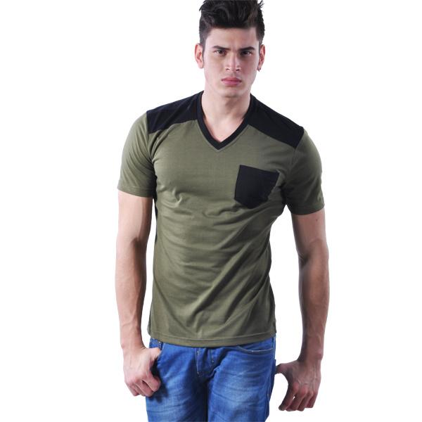 China Fashion Stylish V Neck Oem Mens T Shirt Xy25896