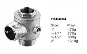 Five Way Connection/5 Way Check Valve in Brass, Nickel Plated