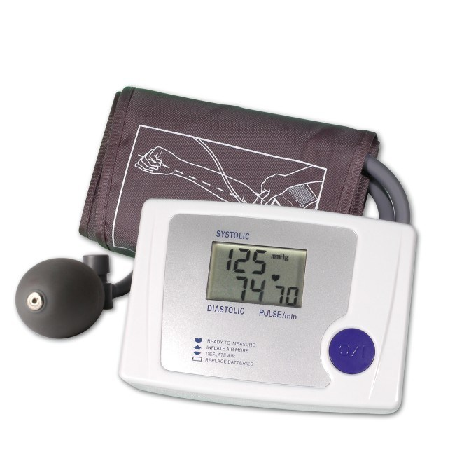how to use manual blood pressure monitor at home