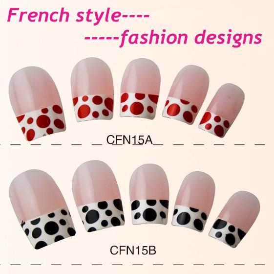 Nail Art Tips (BS003-1205(24)) - China Nail Art, French Nail Tips