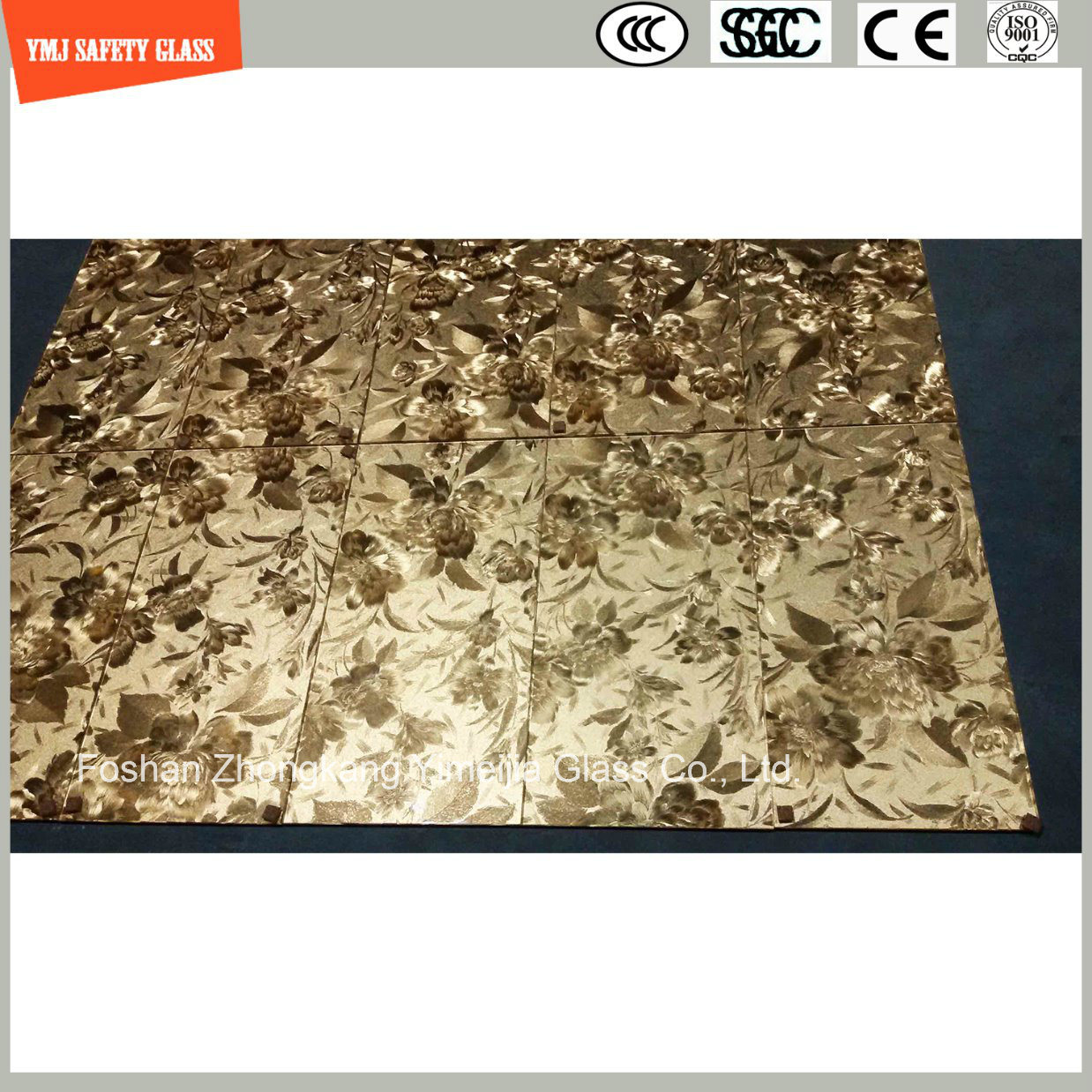 4-19mm Laminated Glass with Leather, Fabric Interlayer