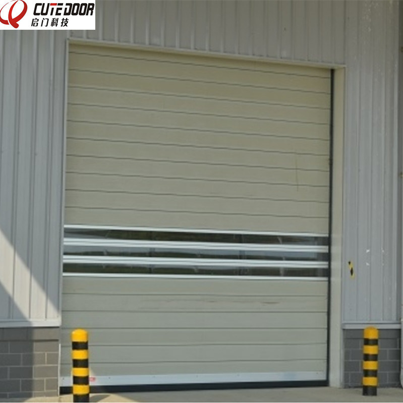Aluminium Spiral Insulated Hard Material High Speed Rolling Door