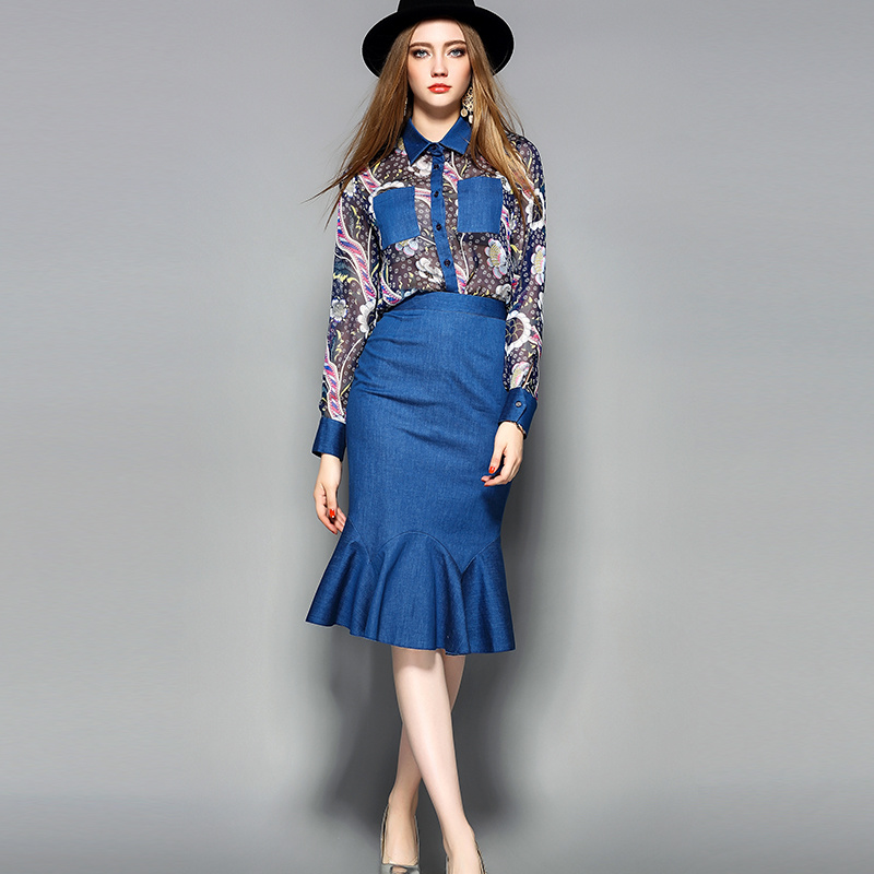 Floral Printed Clothes Pleated Women Dress with Pocket
