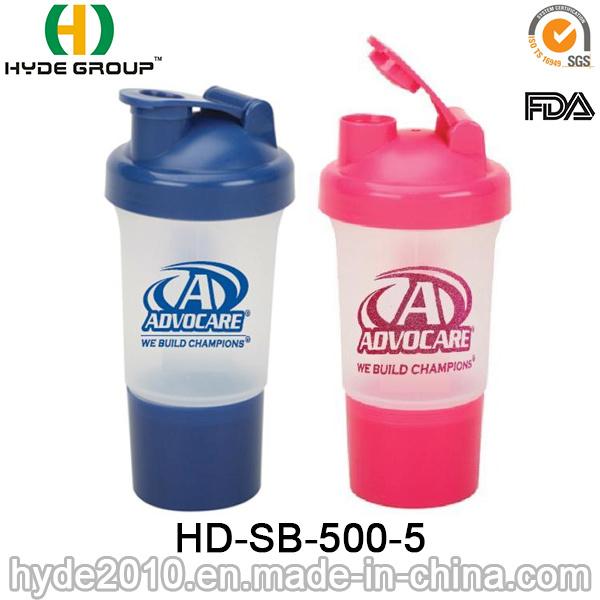 500ml BPA Free Wholesale Protein Smart Shaker Bottle (HD-SB-500-5)