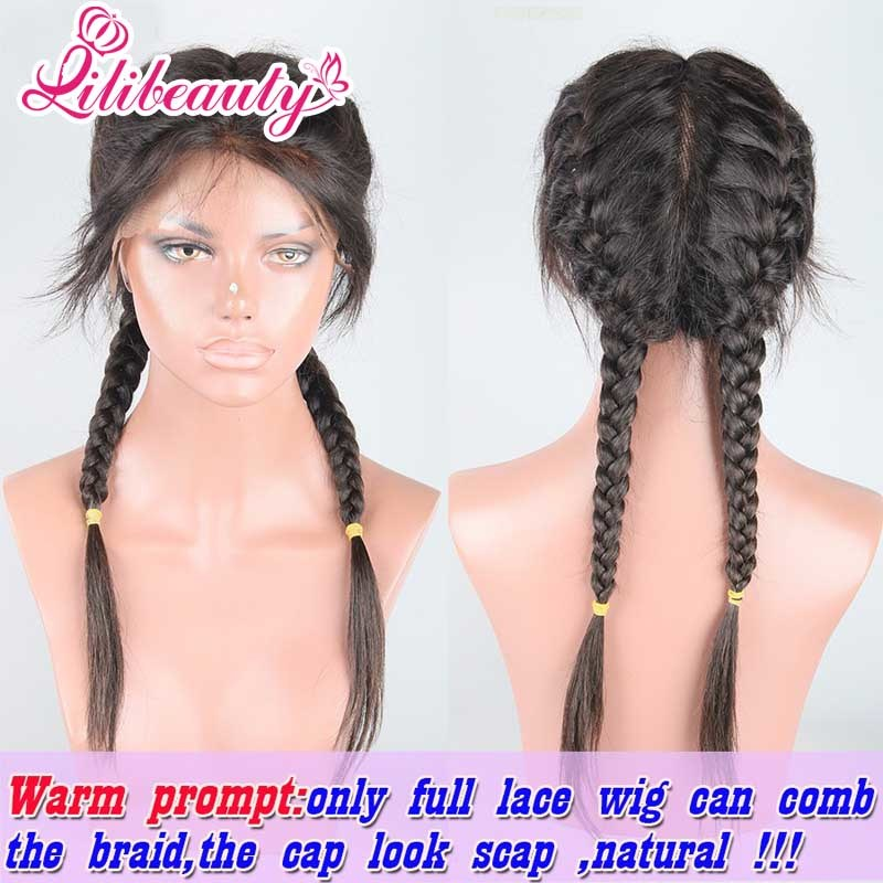 Brazilian Virgin Human Hair Glueless Full Lace Wigs with Baby Hair