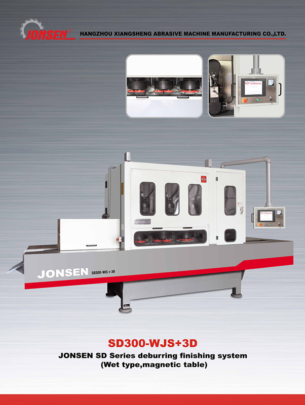 Fine Blanking Press Parts Deburring Grinding Brushing Machines (SD300-WJS+3D)