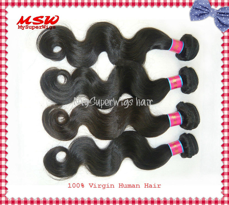 Brazilian Virgin Hair Body Wave Natural Colour Human Hair Bundles