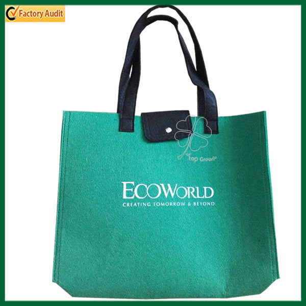 Fashion Green Gift Tote Bag Felt Shopping Bag (TP-SP535)