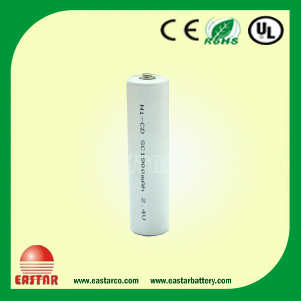 2.4V 1900mAh Sc Ni-CD Battery High Temprature, Rechargeable Battery Pack