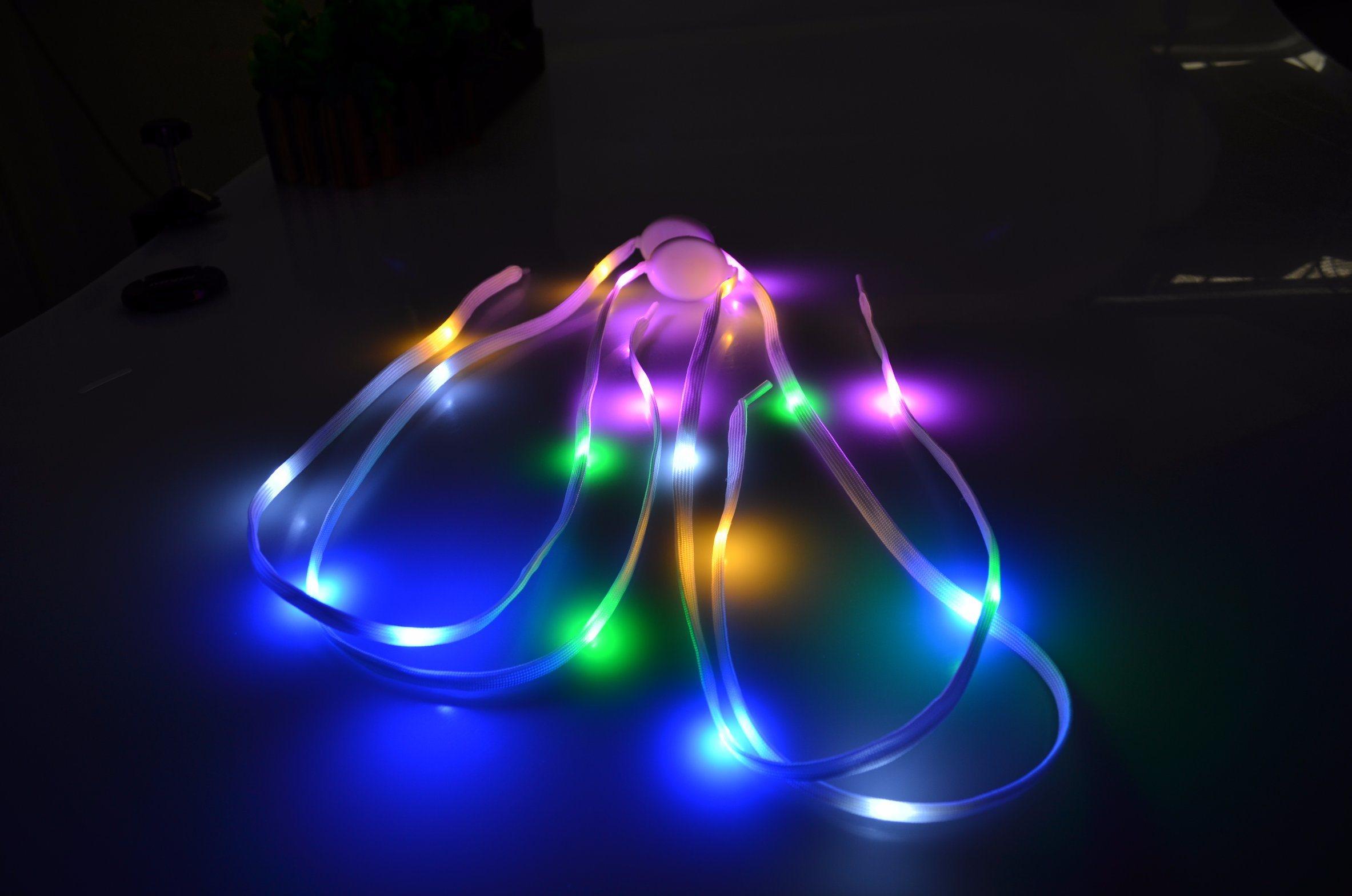 2017 Flashing Sports LED Shoelace Light up Night Running Shoelace
