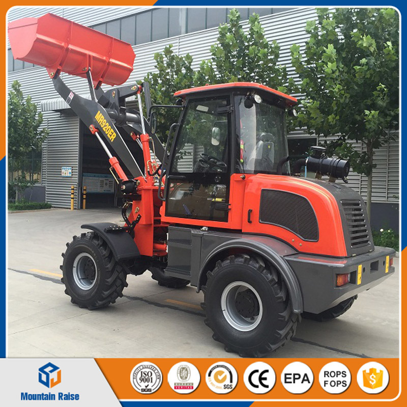 European Design Zl20 Wheel Loader with Electric Control Walking