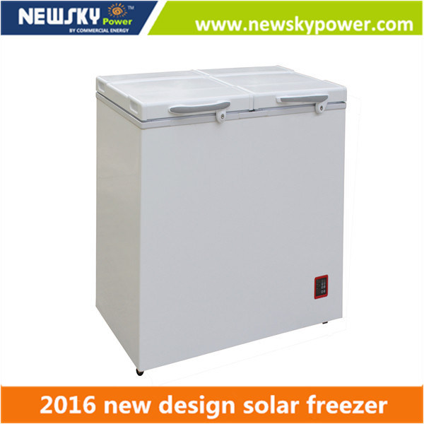128L Solar Power Freezer DC 12V Deep Freezer Cabinet