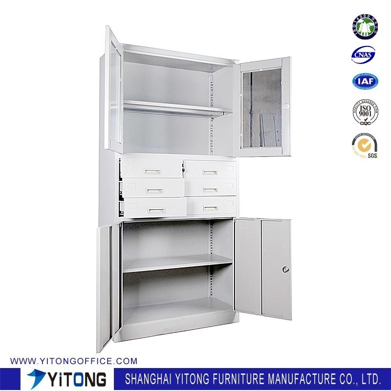4-Door 6-Drawer Metal Storage Cabinet / Office Use Steel File Cabinet