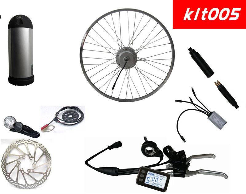 E Bike Kits with Bottle Shape Battery Full Set (Kit-005)