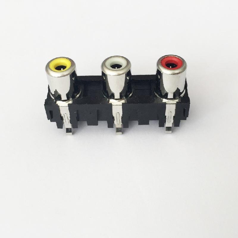 AV Socket with The Core Lotus Single-Hole RCA Socket Audio and Video Terminals AV3-8.4-6