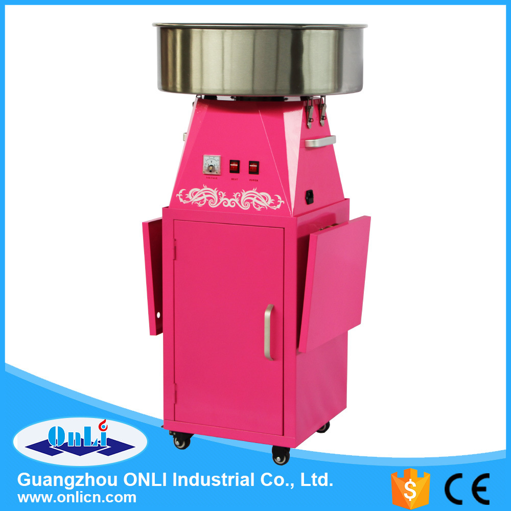 2016 Hot Sale Professional Electric Automatic Flower Candy Floss Maker Cotton Candy Machine with Cart Price