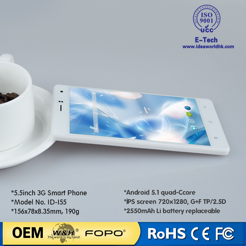 3G Quad Core 5.5 Inch Android Mobile Phone