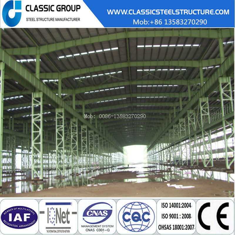Steel Structure Warehouse/Hangar/Factory Building Price with Crane
