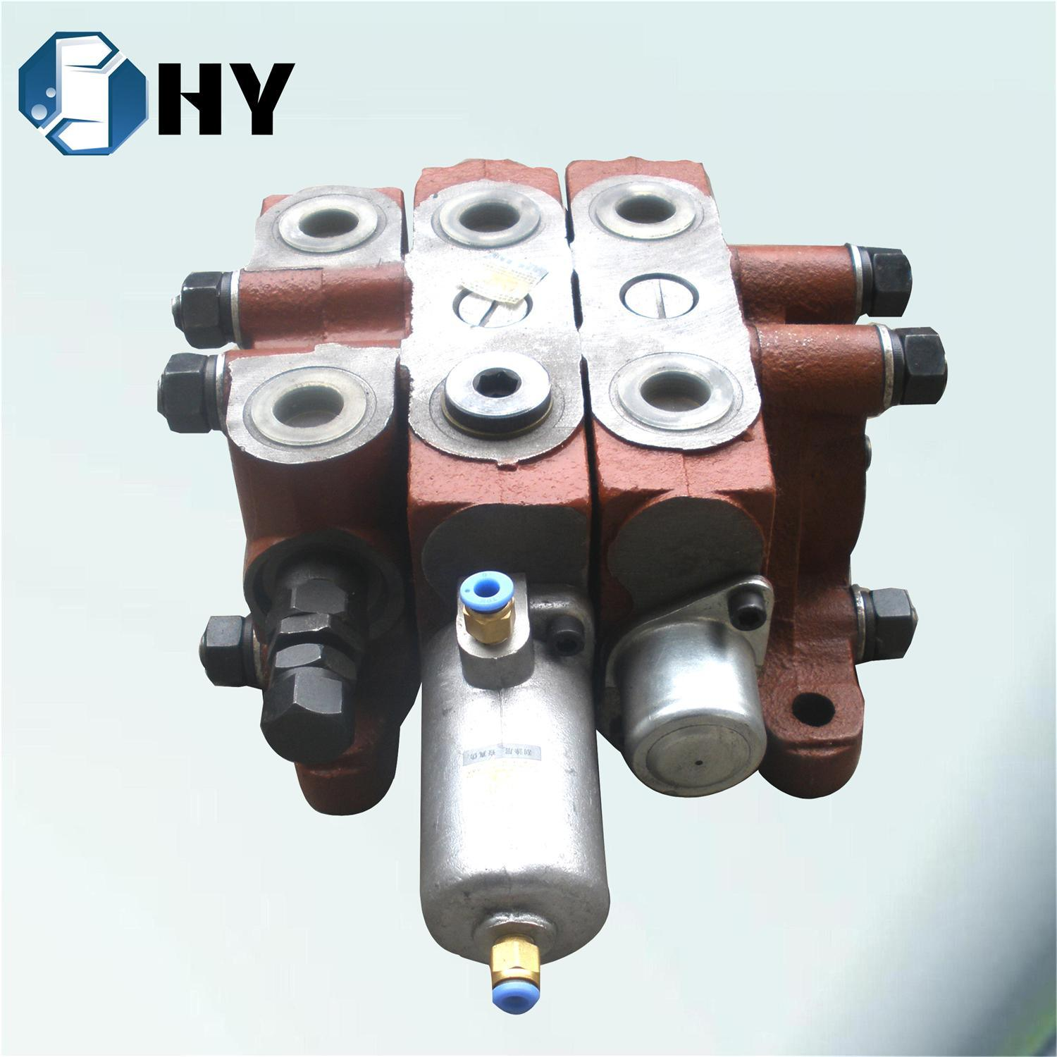 DL20 2 Spools Hydraulic Pneumatic Control Valve for Side Dumper